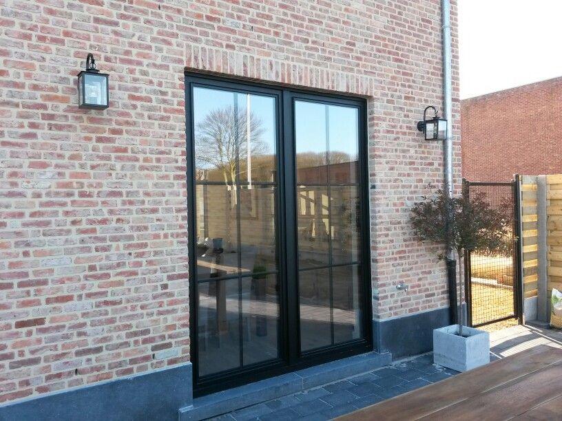 Ramen steel look profiel brick pinterest ramen deuren en landelijk wonen - Buitenverlichting gevelhuis ...