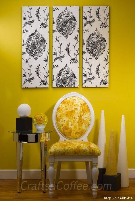 diy-wallpaper-wall-art (470x700, 228Kb) | Cadeiras, sofás...afins ...