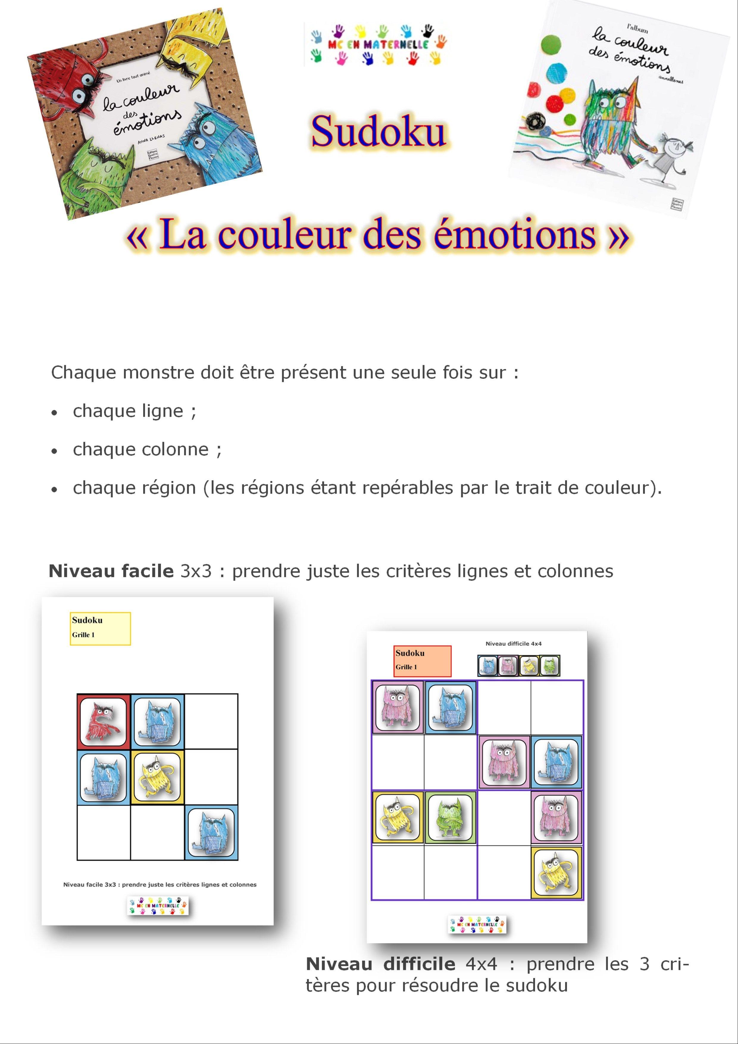 La couleur des motions sudoku 2 niveaux motions pinterest la couleur des motions - Grilles de sudoku vierges ...