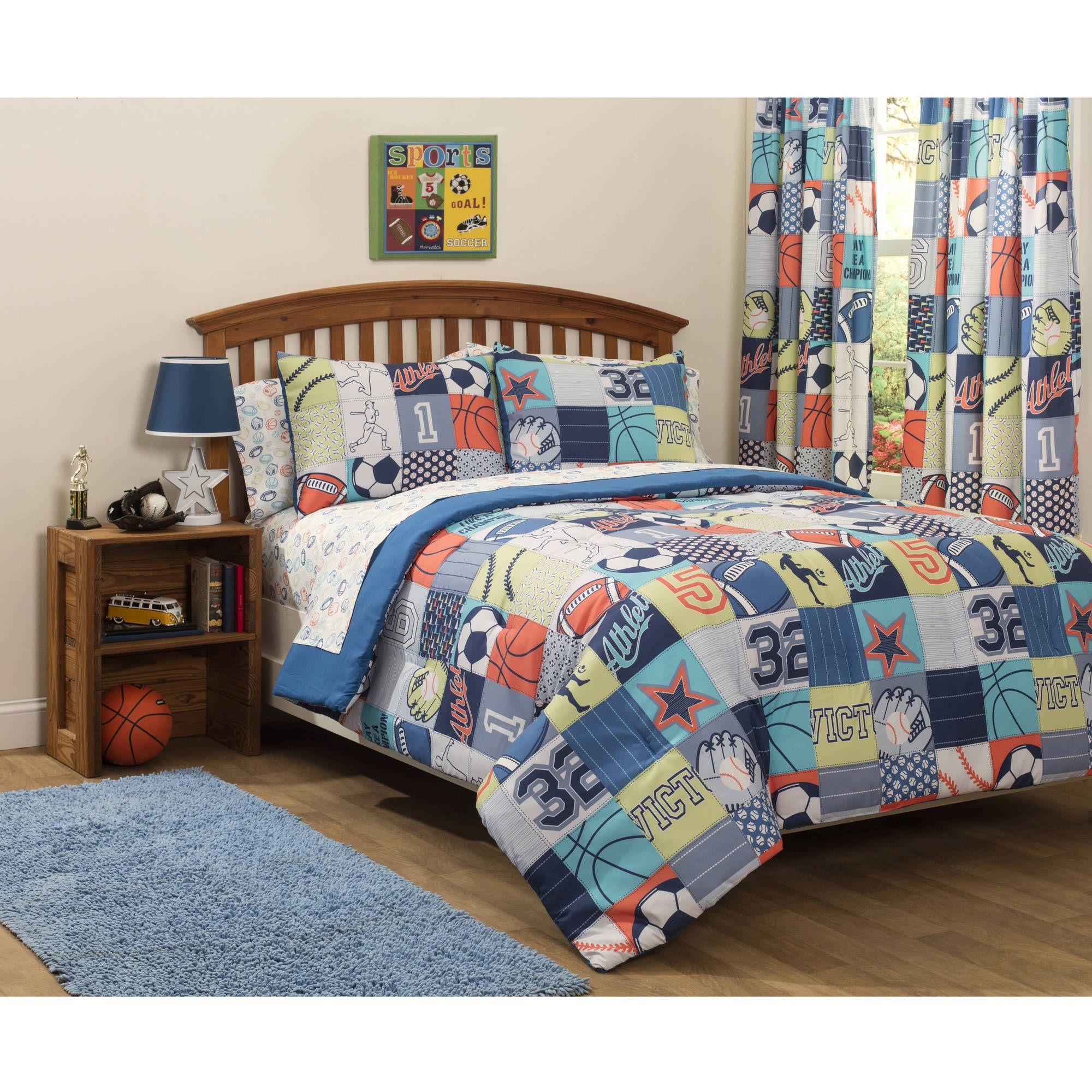 on kids and stars free over comforter hart piece overstock bath set sports product orders bedding laura shipping