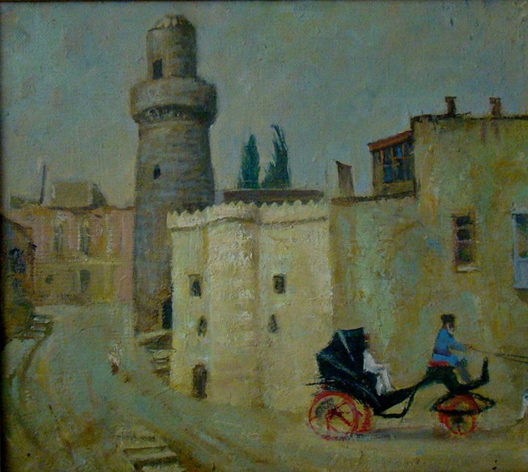 Muəllif Anver Aliyev Kətan Yagli Boya Kohnə Səhər Artist Painting Art Artist