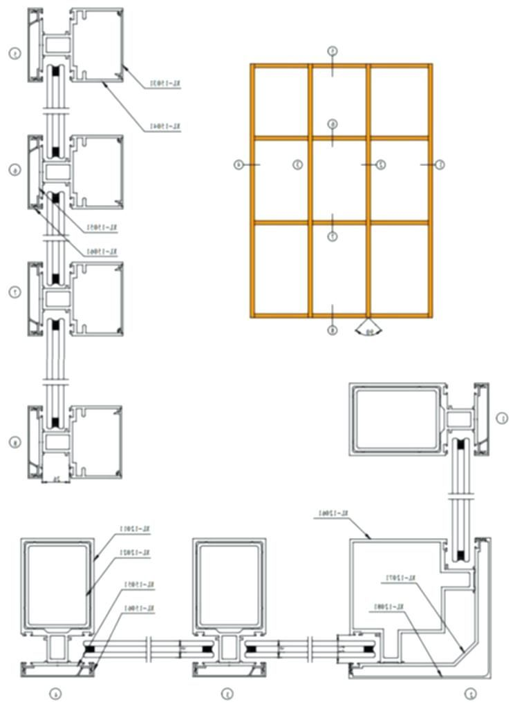 Curtain Wall Dwg Partition Wall Plan Aluminum Partition Wall