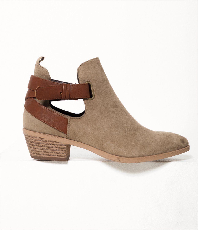 Bottines femme ouvertes Beige T36 - Chaussure Femmes Camaieu