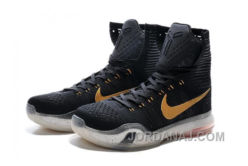 "1e4153d731e7 Nike Kobe 10 High Top Elite ""Rose Gold"" Black White Hot Lava ..."