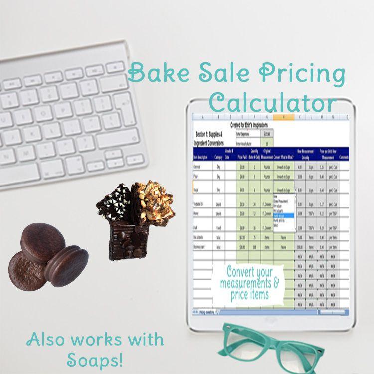 cake pricing calculator excel