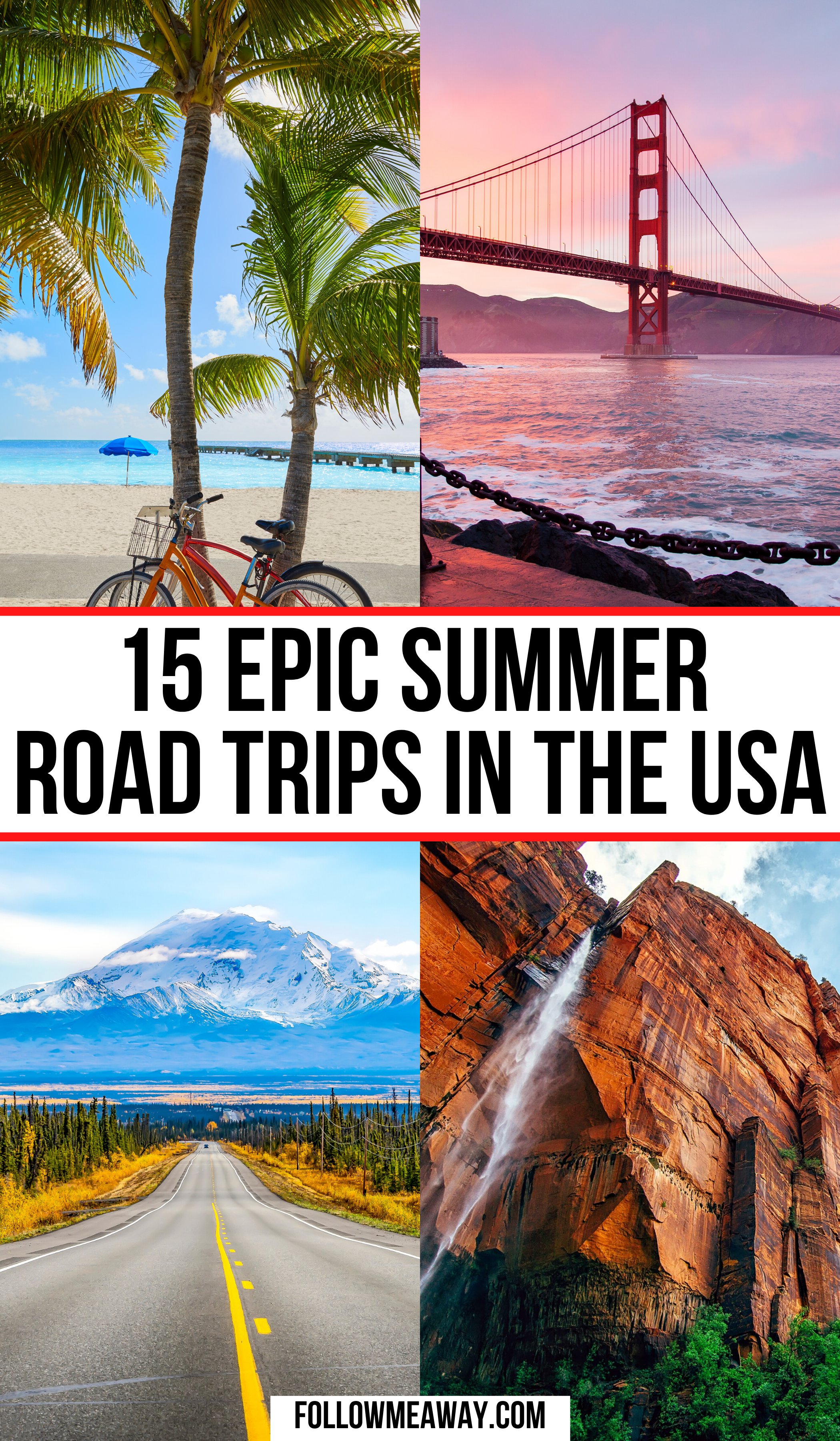 15 Best Road Trips In The Usa For Your Bucket List Road Trip Fun Summer Travel Destinations Usa Travel Destinations