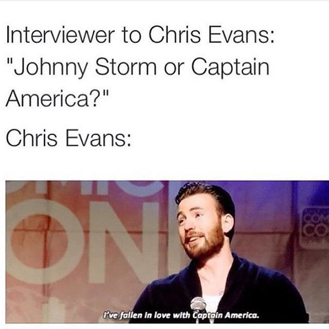 Chriss Posts: I Have Also Fallen In Love With Captain America!!