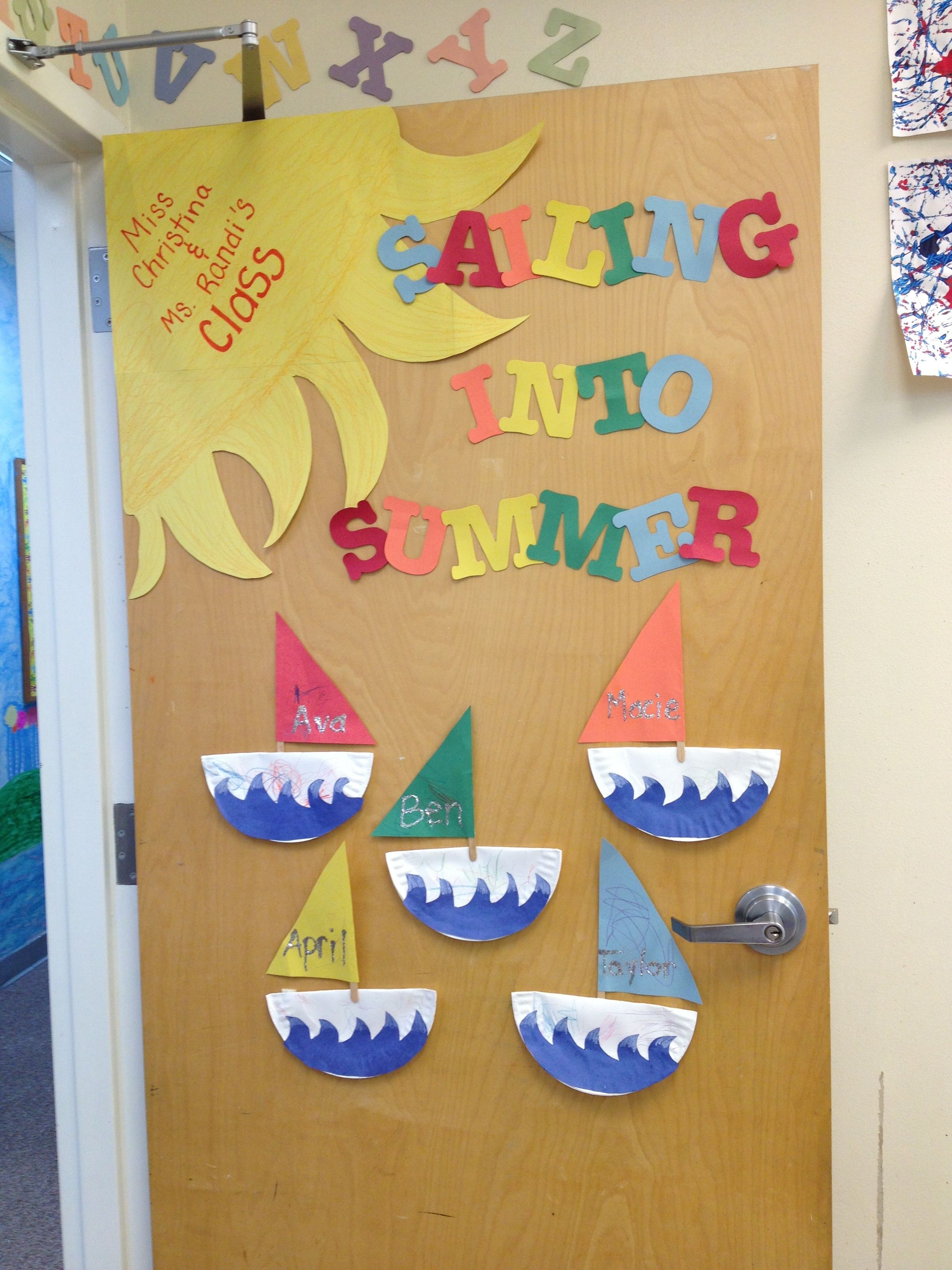 home summer classroom door decorations with