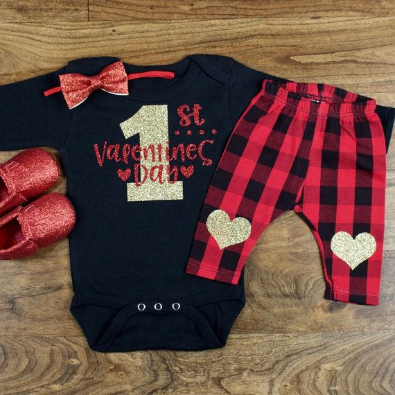 My First Valentines Day Outfit My 1st Valentines Day Onesie W