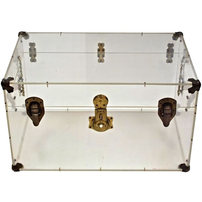 Vintage Lucite Steamer Trunk With