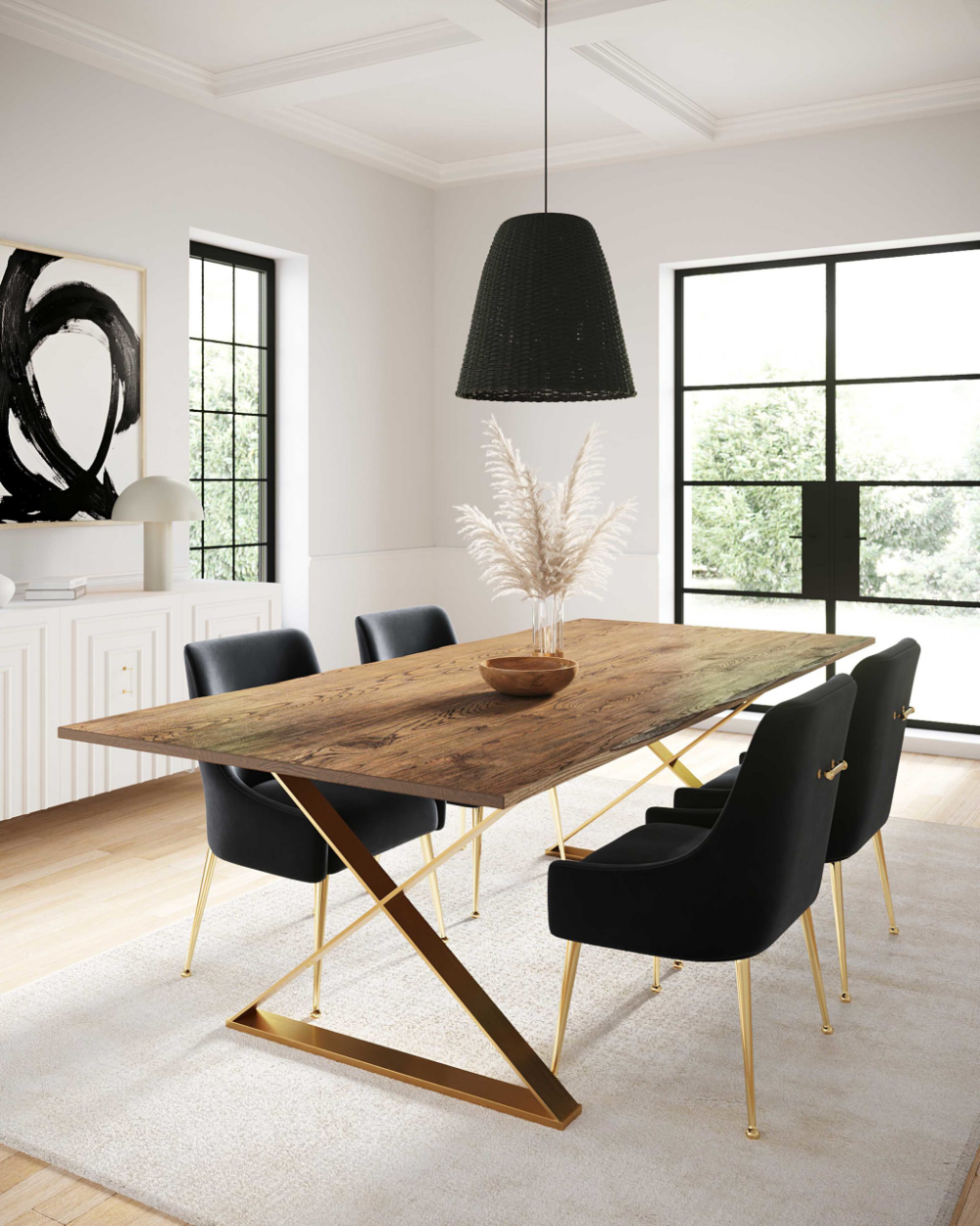 Leah Dining Table - TOV Furniture