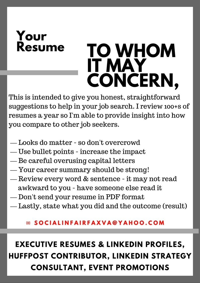 Every month i personally review a large number of resumes