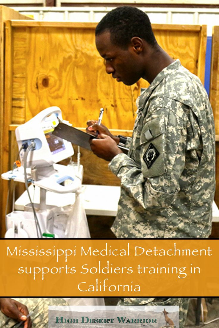 Mississippi Medical Detachment supports Soldiers training