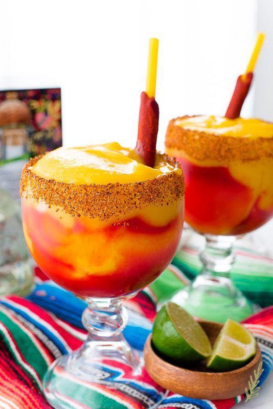 Mangonadas (Spiced, Frozen Mango Margaritas) | Sense & Edibility