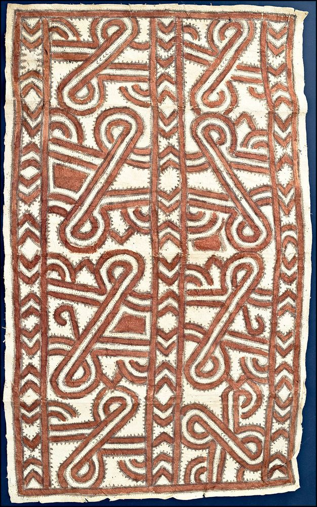 PNG Oro Province TAPA Cloth - natural dyes -  Papua New Guinea