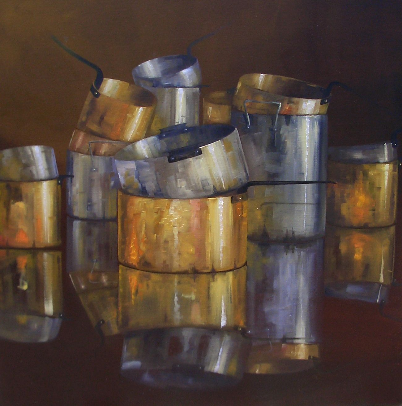 """On the Occasion"" 36x36 oil by Connie Bryson - http://www.conniebrysonstudio.com/"