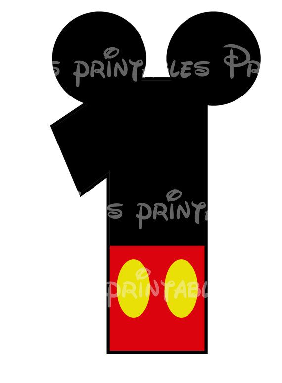 Mickey Mouse Age Birthday Number DIY iron On Printable Disney Sweatshirt Pillowcase Shirt One Five Shorts. $5.00, via Etsy.