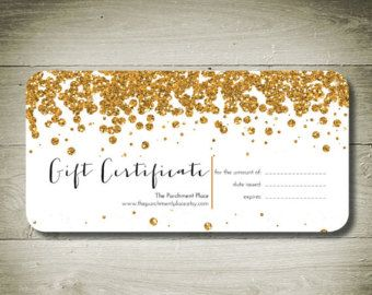 All that glitters custom personal ised gift certificate all that glitters custom personal ised gift certificate negle Choice Image