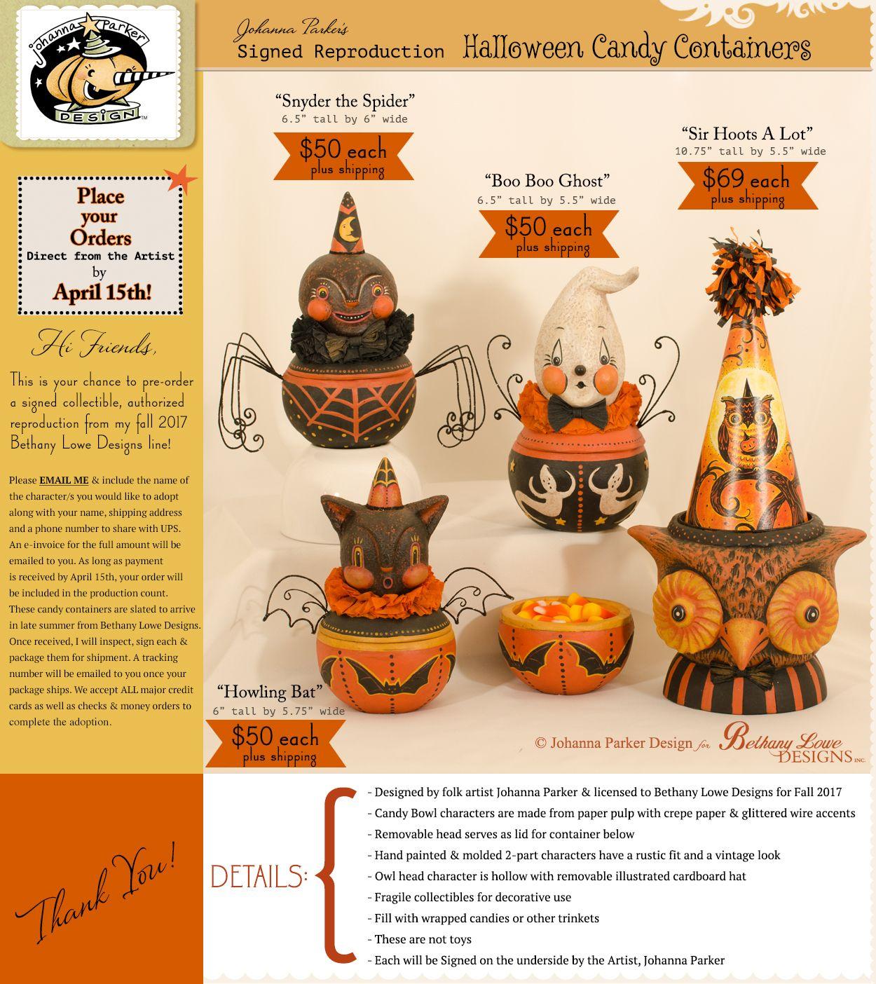 Johanna Parker Design Halloween candy, Halloween, Candy