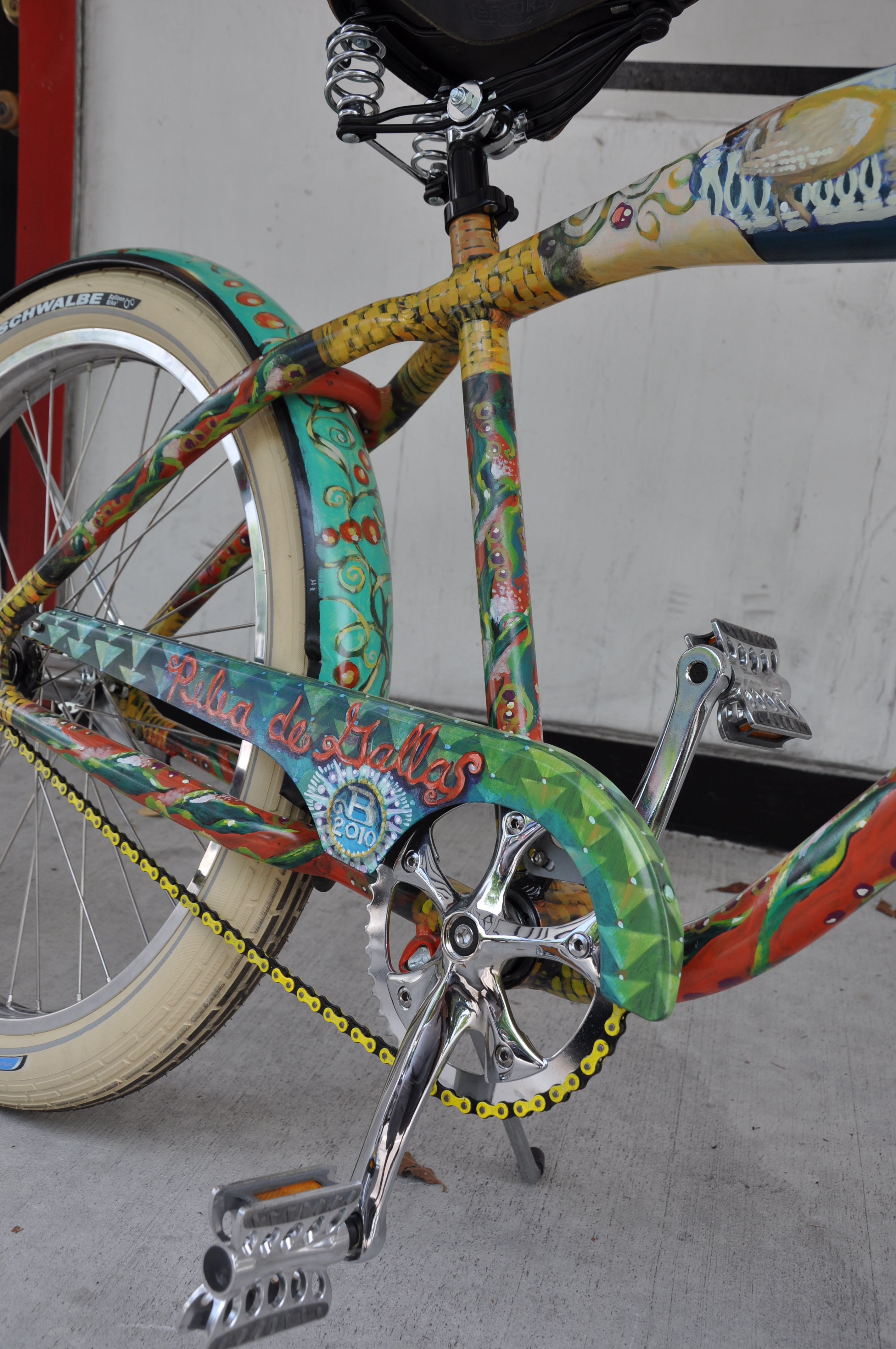 Hand Painted Art Bicycle By Jeff Beal Eatonbikes Com Paint Bike