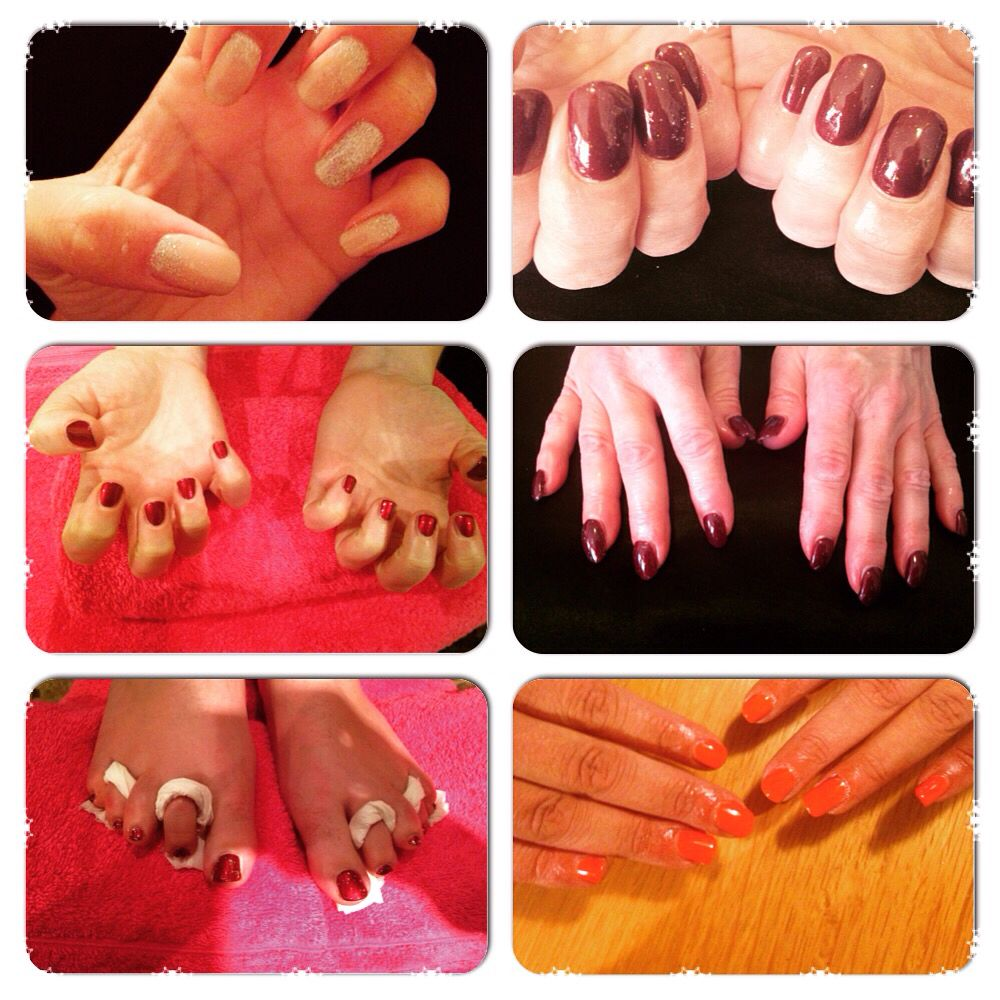 Shellac and manicures done over the last week at Elegant Beauty ❤️