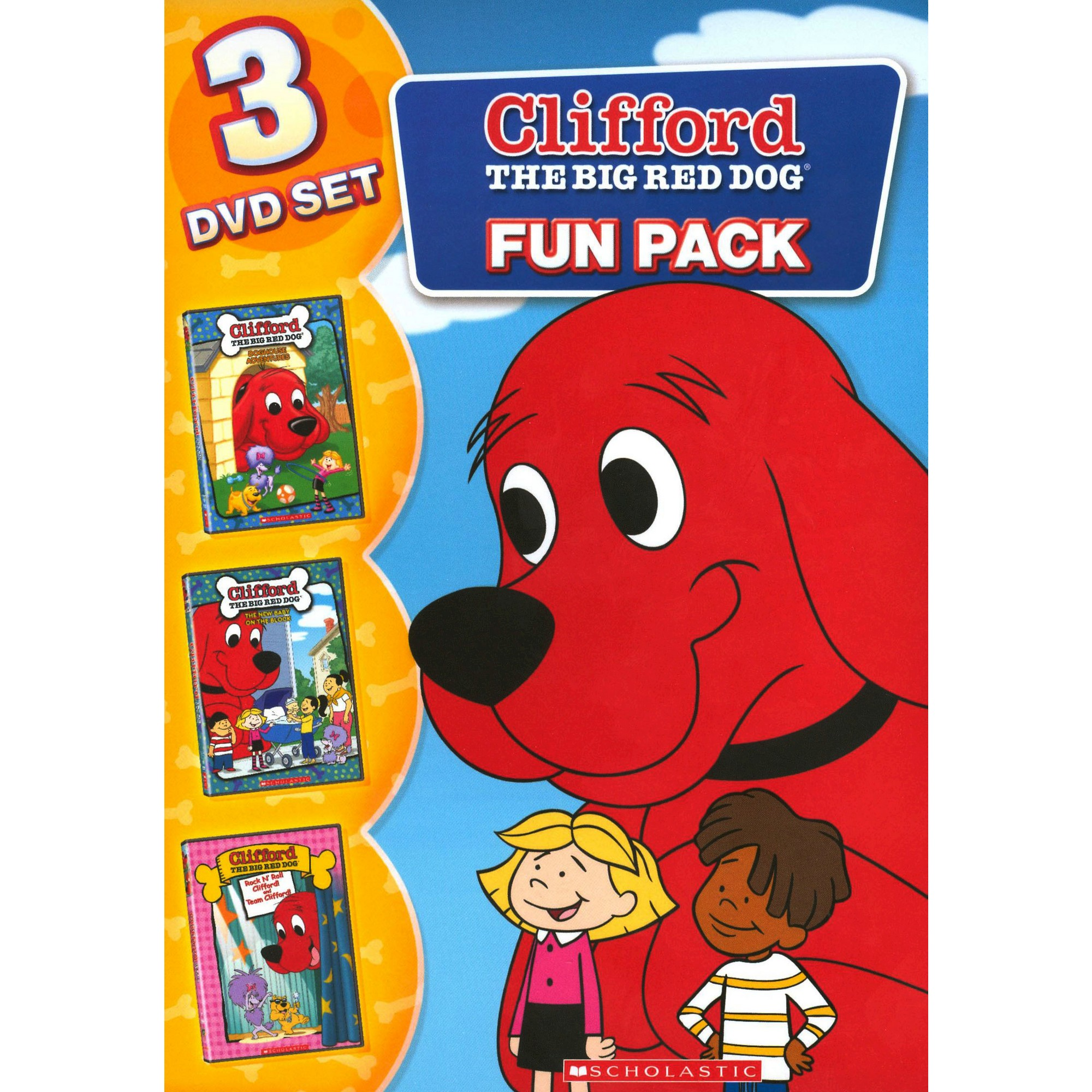 Clifford The Big Red Dog Fun Pack 3 Discs