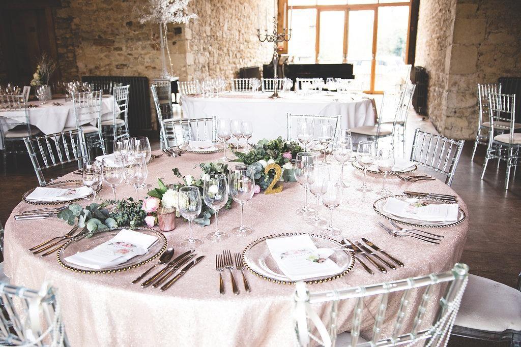 Glamorous Summer Inspired Wedding Reception Tables Summer Wedding