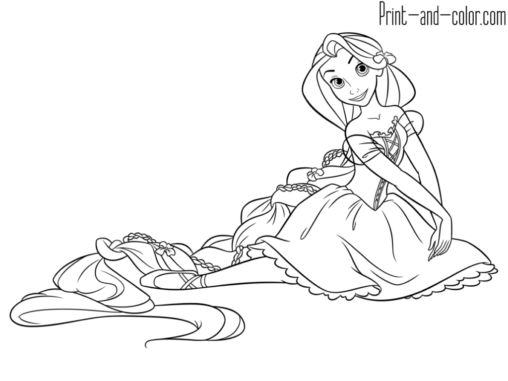 Rapunzel Coloring Pages Print And Color Com Rapunzel Coloring Pages Tangled Coloring Pages Princess Coloring Pages