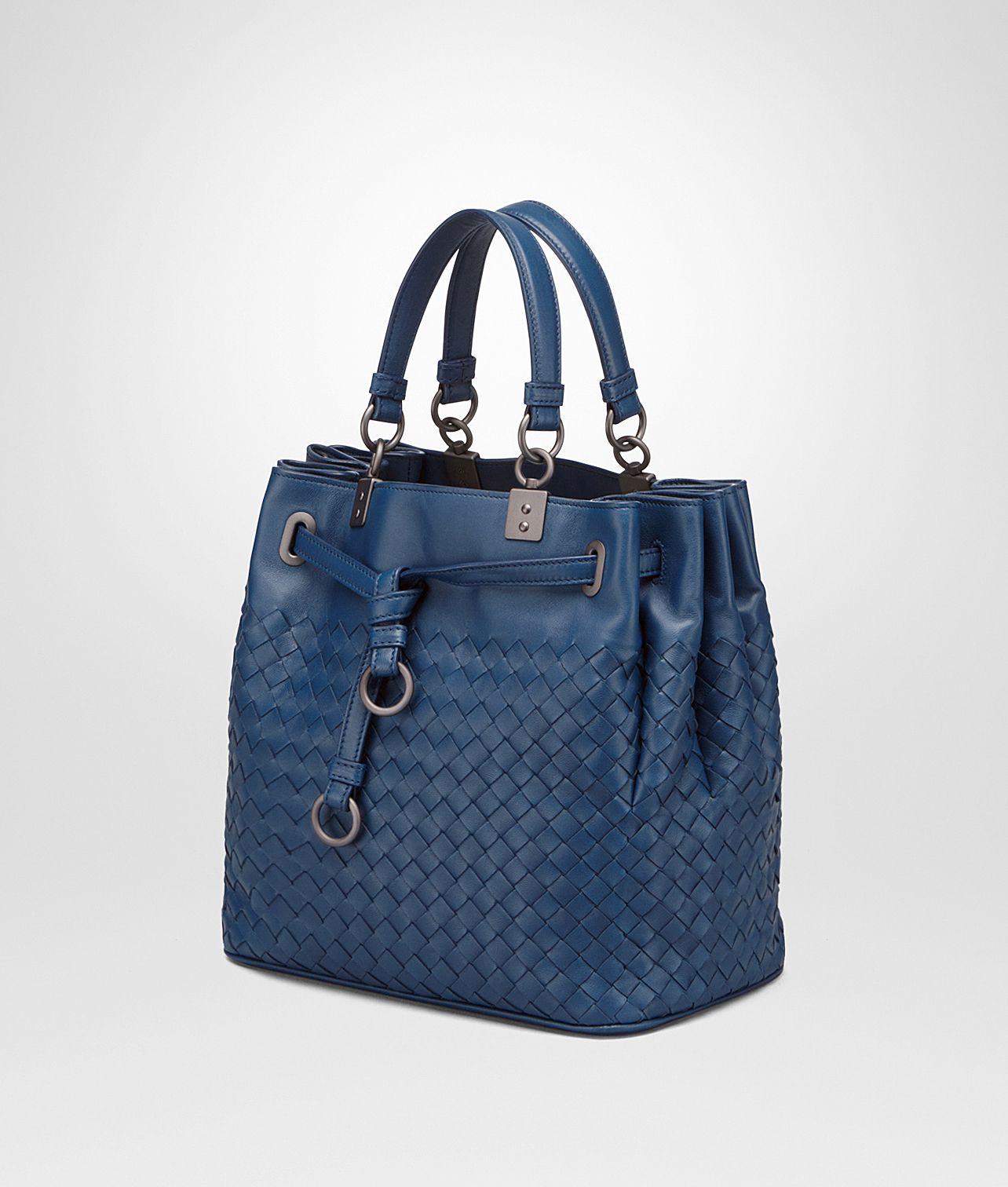 008dde8e03b9 Bottega Veneta® - BUCKET BAG IN PACIFIC INTRECCIATO NAPPA