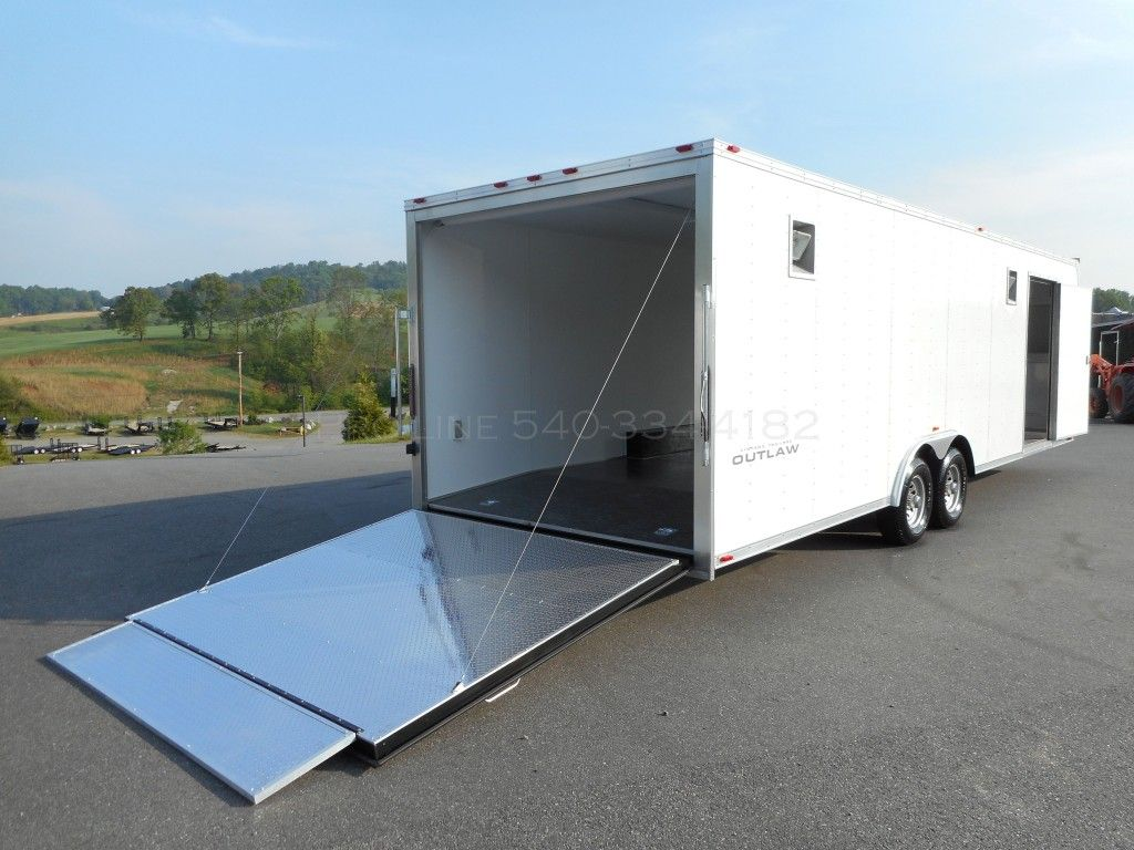 Vintage Outlaw Enclosed Trailer Atp Ramp Flap Race Ready 8 5