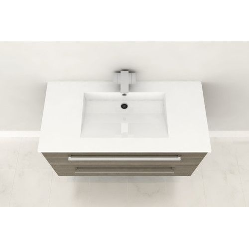 "Found it at Wayfair - Silhouette 36"" Single Bathroom Floating Vanity Set"