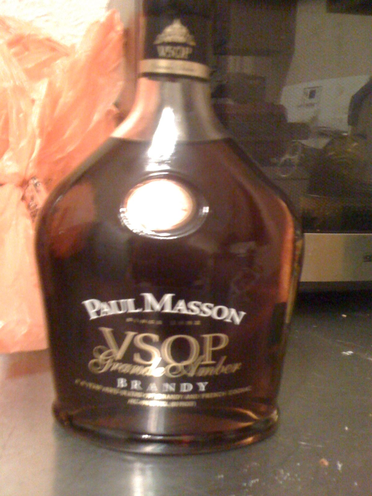Photo I took of a bottle of Paul Masson VSOP. *Amanda Gard (Mandi Gard's) photography*
