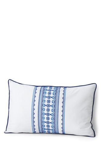 40x40EmbroideredDecorativePillowfromLands'End Pillows Gorgeous Lands End Decorative Pillows