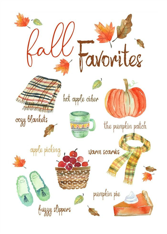 Fall Favorites Free Fall Printable - Clean and Scentsible