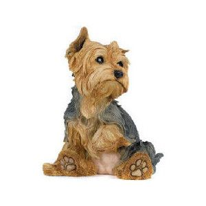 Yorkshire Terrier Small Yorkie Dog Statue Statuary Sculpture Figurine Home Decor
