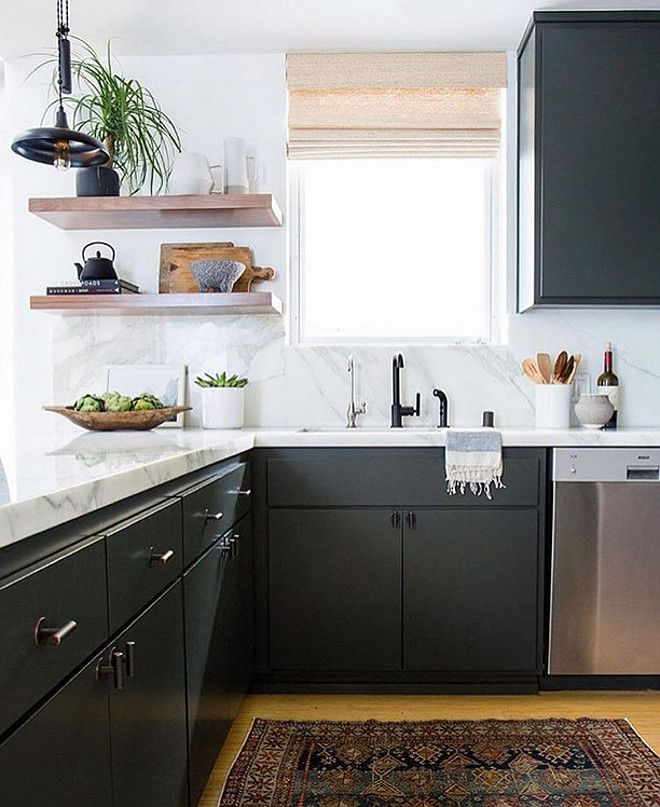 Black Kitchen Cabinets Paint Color: Inspiring Ideas From Instagram HomesCharcoal Kitchen