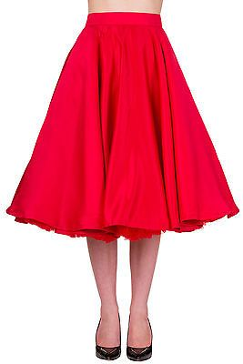 c0b5fc01dbd Banned Swing Circle Retro 50s Rockabilly Pin Up Midi Skirt Plus size Over 18  20