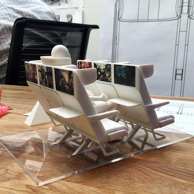 Aircom Pacific Airplane Seats 3d Printed Model Cabin Interior Design Aircraft Interiors Seat Design