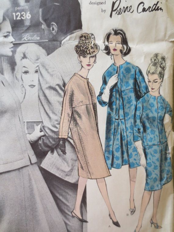 Vintage Vogue 1236 Sewing Pattern, 1960s Suit Pattern, Pierre Cardin ...