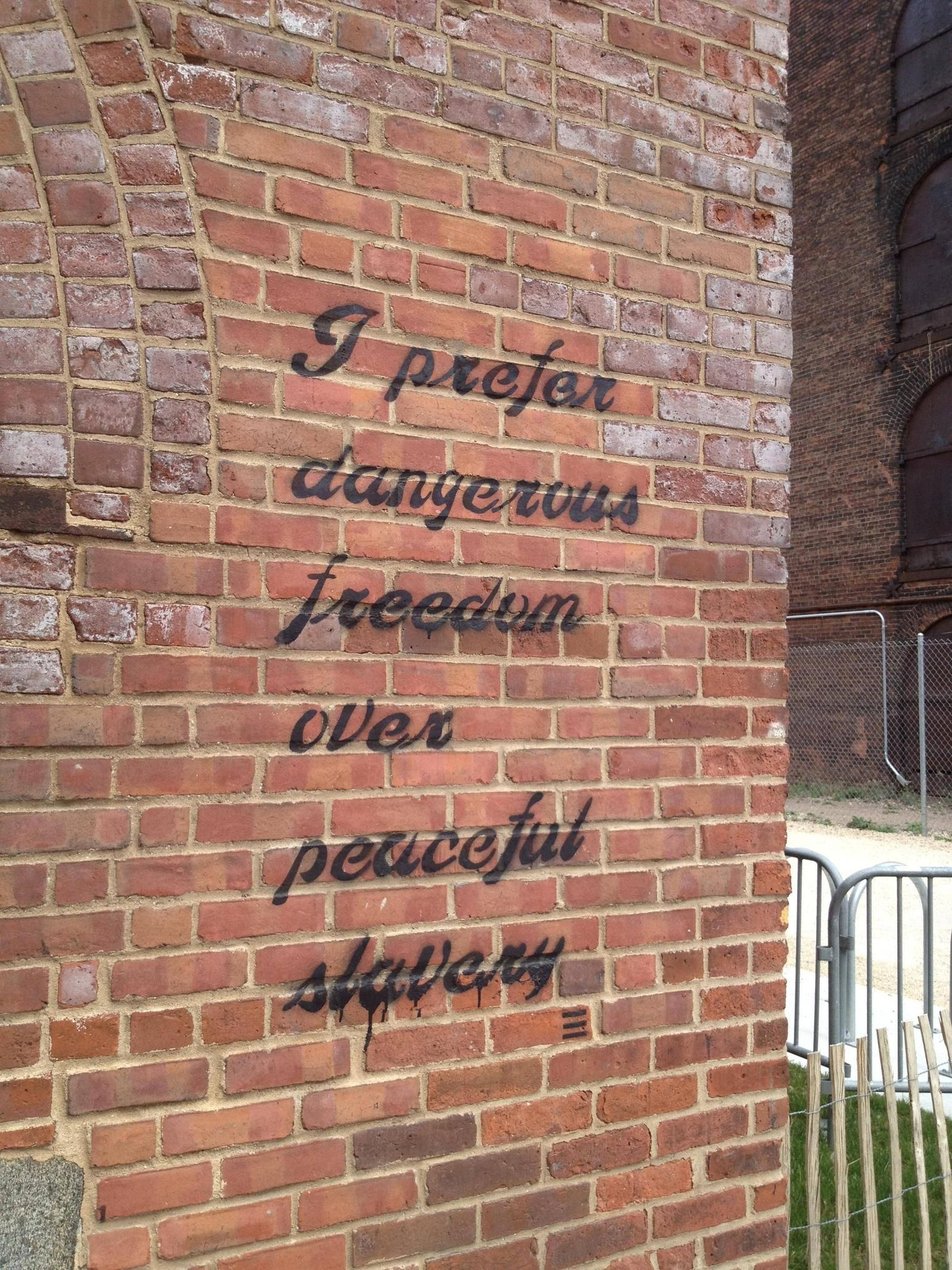 I Prefer Dangerous Freedom Over Peaceful Slavery Wow Exactly Although It Used To Be The Other Way Around Slavery Words Funny Quotes