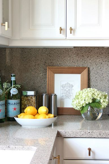 kitchen countertop decor curtains amazon accessorize counter top or empty corner w bowl of fresh fruit vase flowers and art print leaning up against back splash for decorative touch