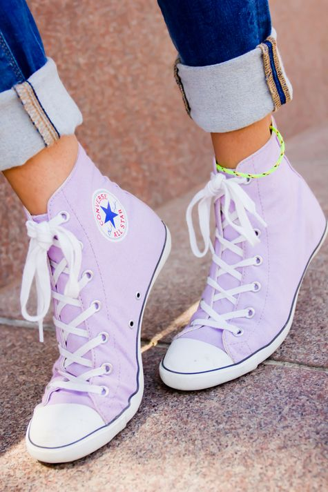 Lavender high tops...!   Converse! in 2019   Pinterest   Shoes ... 907a1500a87