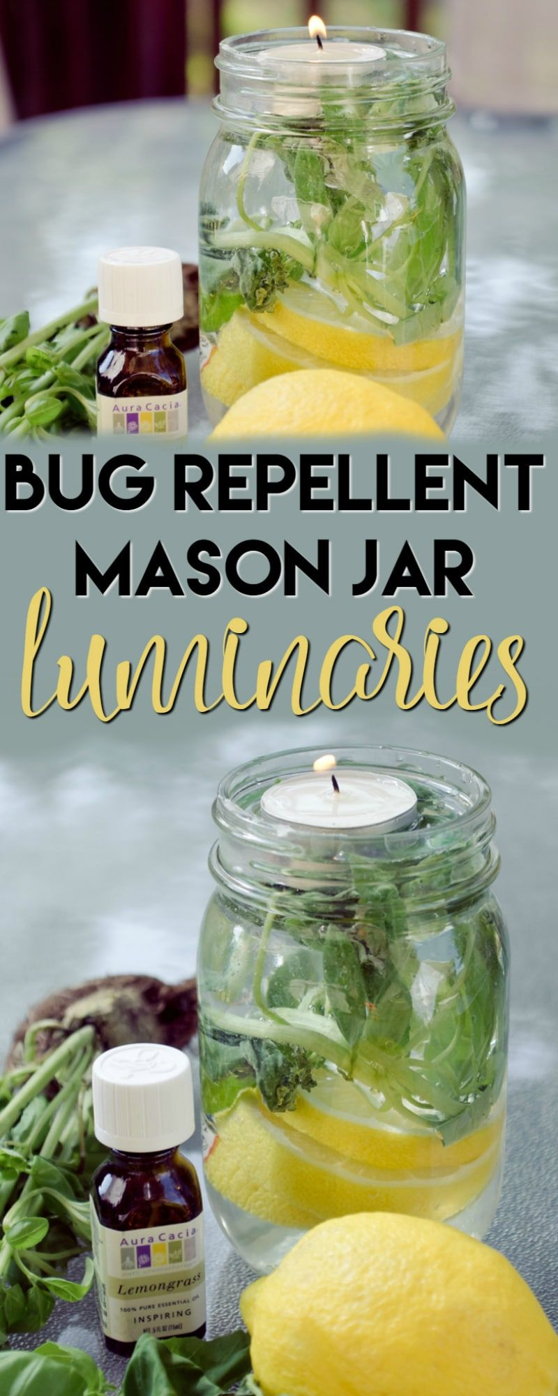 Bug Repellent Mason Jar Luminaries - A Grande Life