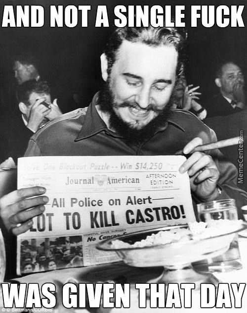 d02bb111a308e8fddbadf593055e20ea fidel castro memes the original hipster dies november 25th 2016