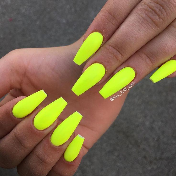 "Katja Zakrajšek on Instagram: """"Neon Yellow"" with Matte ..."