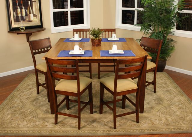 American Heritage Billiards   Andria Counter Height Dining Table