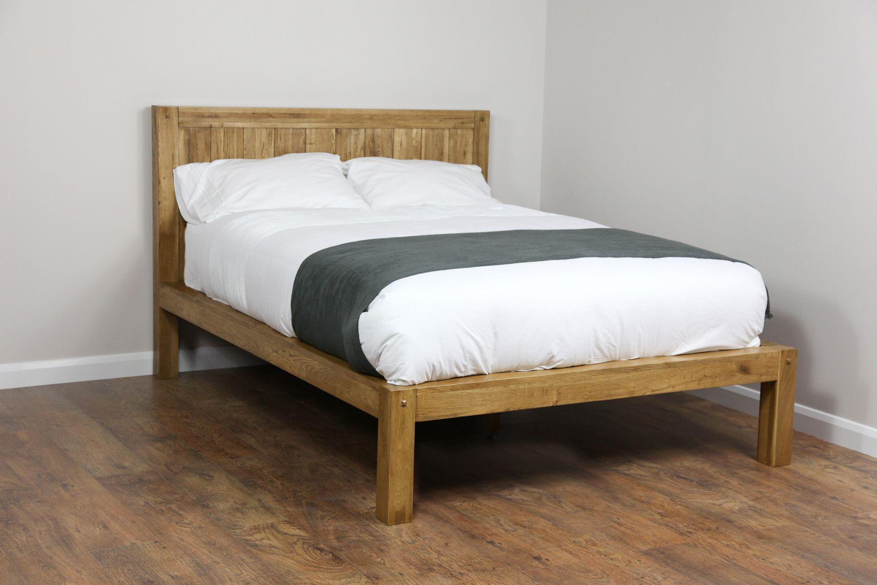 Quercus Solid Oak Furniture Range Bedroom Oak Double Bed Frame Oak Furniture Land Www Oakfurnitureland Co Furniture Solid Oak Furniture Rustic Oak Furniture