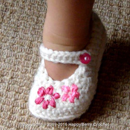 Lazy Daisy Girls Shoes Free Pattern Beautiful Skills Crochet