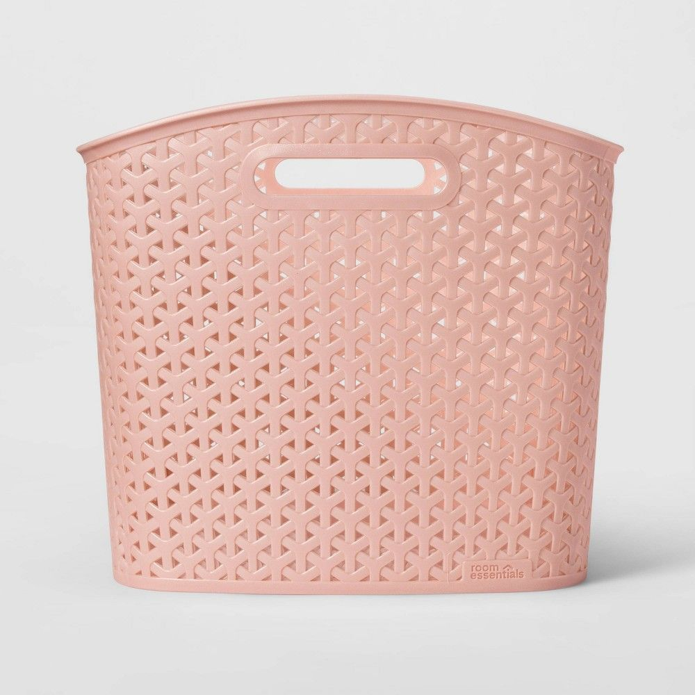 Xl Y Weave Curved Bin Pink Room Essentials Room Essentials Pink Room Decorative Storage Bins