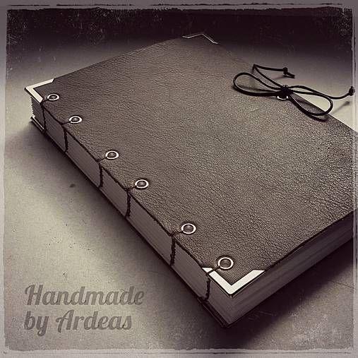 ardeas / Brown clasic maxi (kožený zápisník A6) / leather book / handmade bookbinding